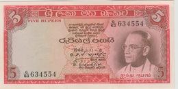 5 ROUPIES 1962 - Sri Lanka