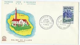 Enveloppe 1er Jour France FDC Eglise De Cilaos 1960 - FDC