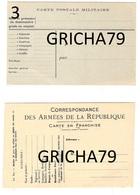 MILITAIRE - CARTE POSTALE MILITAIRE ET CORRESPONDANCE DES ARMEES DE LA REPUBLIQUE ( 2CARTES ) - Militaria