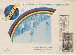 Championnats Du Monde UCI 1955 Italie Carte Officielle N°1 - Wielrennen