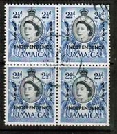 JAMAICA  Scott # 187 VF USED BLOCK Of 4 (Stamp Scan # 484) - Jamaica (1962-...)