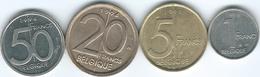 Belgium - Albert II - French - 1 (1996 - KM187) 5 (1998 - KM189) 20 (1994 - KM191) & 50 Francs (1994 - KM193) - Unclassified