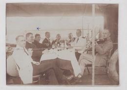 WW1 K.u.k. Austro-Hungarian Navy Officers Celebrating On The Deck B190410 - Krieg, Militär