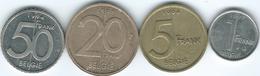 Belgium - Albert II - Dutch - 1 (1997 - KM188) 5 (1994 - KM190) 20 (1998 - KM192) & 50 Francs (1994 - KM194) - Unclassified