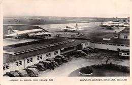 "0376 ""SHANNON AIRPORT - RINEANNA IRELAND"" ANIMATA, AUTO ED ARERI AD ELICA ANNI '40. CART. ORIG. SPED. 1948 - Clare"