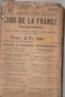 Carte TARIDE N° 19 - Midi De La France (section Ouest) - Languedoc - Cartes Routières