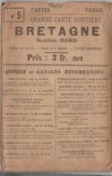 Carte TARIDE N° 5 - Bretagne (section Nord) - Le Havre Cherbourg St-Brieuc St-Malo - Cartes Routières