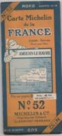 Carte MICHELIN N° 52 - Amiens-Le Havre - Cartes Routières