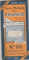 Carte MICHELIN N° 60 - Paris - Le Mans - Cartes Routières