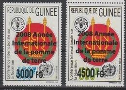 Guinée Guinea 2008 Mi. 6187 / 6188 Surchargé Overprint Année Internationale De La Pomme De Terre FAO Food UN 2 Val. - Contro La Fame