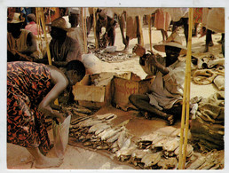 CAMEROUN    MOKOLO   LE POISSON  AU  MARCHE'  DE  KOZA      (VIAGGIATA) - Camerun
