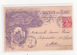 Lithographie 1897 Schinznach Les Bains - AG Argovie