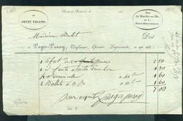 501  - FACTURE CLERMONT FERRAND 1858 CONFISEUR LIQUORISTE - France
