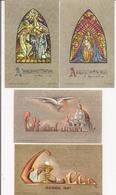 Image Pieuse  Ou Religieuse -  Lot De 4  -  Carmel De Rochefort  Belgique - Images Religieuses