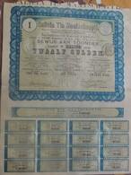 Certificat De 25 Francs Au Porteur Galicia Tin Maatschappij 1889 - Actions & Titres