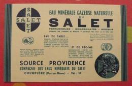 étiquette Eau Minérale Gazeuse Naturelle Du Salet. Courpière Puy De Dôme. Vers 1960 - Advertising