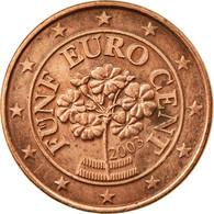 Autriche, 5 Euro Cent, 2003, TTB, Copper Plated Steel, KM:3084 - Autriche