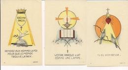Image Pieuse  Ou Religieuse -  Lot De 3  Genre Papier Parchemin -  Deledit - Images Religieuses