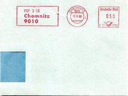 """(Gm-2) DDR AFS-Brief """"9010 Chemnitz"""" AFS 050(Pf) DEUTSCHE BUNDESPOST 12.9.90 9010 CHEMNITZ - [6] République Démocratique"""