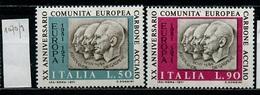 Italie - Italy - Italien 1971 Y&T N°1070 à 1071 - Michel N°1333 à 1334 *** - Communauté Européenne Du Charbon - 6. 1946-.. Republik