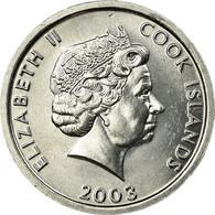 Monnaie, Îles Cook, Elizabeth II, Rooster, Cent, 2003, Franklin Mint, SUP - Cook Islands