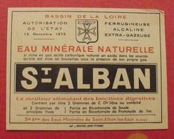 étiquette Eau Minérale Naturelle Saint-Alban-les-eaux Loire. Vers 1960 - Werbung