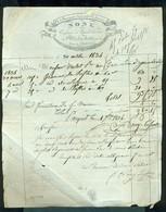492  - FACTURE CUSSET 1834 CONFISEUR EPICIER - France