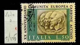 Italie - Italy - Italien 1971 Y&T N°1070 - Michel N°1333 (o) - 50l Communauté Européenne Du Charbon - 6. 1946-.. Republik