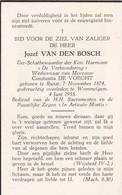 Ranst, Wommelgem, 1955, Jozef Van Den Bosch, De Voeght - Andachtsbilder