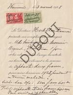WAREMME 1928 Lettre Du Docteur Herbillon François  (O640) - Announcements