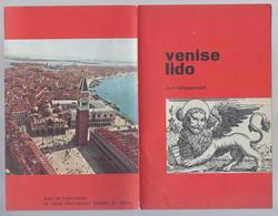 1956 VENISE LIDO PLAN TOPOGRAPHIEQUE 8- LUIK - INSTITUTO  GEOGRAFICO DE AGOSTINI - Dépliants Touristiques