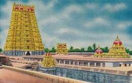 CARTOLINA - INDIA - AERIAL VIEW RAMESWARAM - India