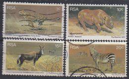 Afrique Du Sud N° 405 / 08 XX , O Animaux Sauvages : Les 4 Valeurs  Sans Charnière Ou Oblitérées Sinon TB - Afrique Du Sud (1961-...)
