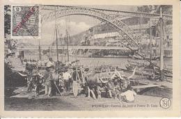 Porto - Carros De Bois E Ponte D. Luiz (top Animation 1910, MG, To Gent) - Porto