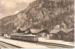 CHÂTELARD (Valais-VS) Rare Carte Photo De La Station De Châtelard-Trient Avec Un Train (Phot. E. Gyger , Adelboden) - VS Valais