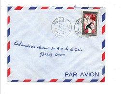 TCHAD LETTRE AVION DE MOUSSORO POUR LA FRANCE 1960 - Tchad (1960-...)