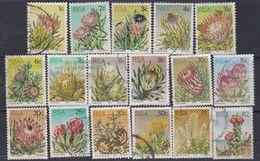 Afrique Du Sud N° 416 / 32  O : Série Courante : Fleurs. Les 17 Valeurs Oblitérations Faibles à Moyennes Sinon TB - Afrique Du Sud (1961-...)