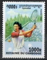 Cambogia Cambodia 2000 - Tennis MNH ** - Tenis
