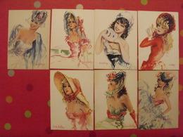 "7 Cartes Postales ""La Parisienne"". Cristellys Yvon Vers 1960 - Pin-Ups"