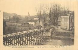 40  GRENADE SUR ADOUR  Vue De La Rivière Et Ancien Pont De Bois  2 Scans - Francia