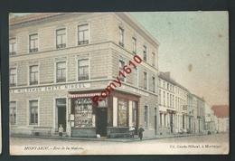 """Montaigu - Rue De La Station.  Devanture """"Au Sauvage Smets Nihoul"""". En Couleur - Scherpenheuvel-Zichem"""