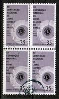 BRAZIL  Scott # 1000 VF USED BLOCK Of 4 (Stamp Scan # 486) - Brazil