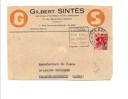 ALGERIE OBLITERATION DAGUIN SUR DEVANT DE LETTRE A EN TETE DE ALGER POUR LA FRANCE 1940 - Algérie (1924-1962)