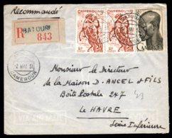 Lettre Recommandé De Batouri Pour Le Havre 2 Mai 1951 - Kameroen (1915-1959)