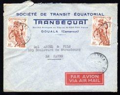 Lettre De Douala Pour Le Havre - Kameroen (1915-1959)