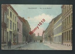 Tirlemont - Rue De La Station. Commerces, Animations , Epicerie Moderne. En Couleur - Tienen