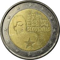 Monnaie, Slovénie, Franc Razman, 100th Anniversary Of Birth, 2 Euro, 2011, SUP - Slovenia