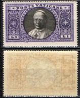 VATICANO - 1933 - MEDAGLIONE CON IL PAPA PIO IX - 1 LIRA - MNH - Vatican