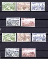 1955   Vues De Villes, 2 X  PA 40 /44**, Cote 40 €, - Checoslovaquia