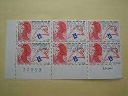 1988 France  Yv 2524 X 6 ** MNH -  Philexfrance Michel 2661 Scott 2105 SG 2821 Liberté Gandon - France